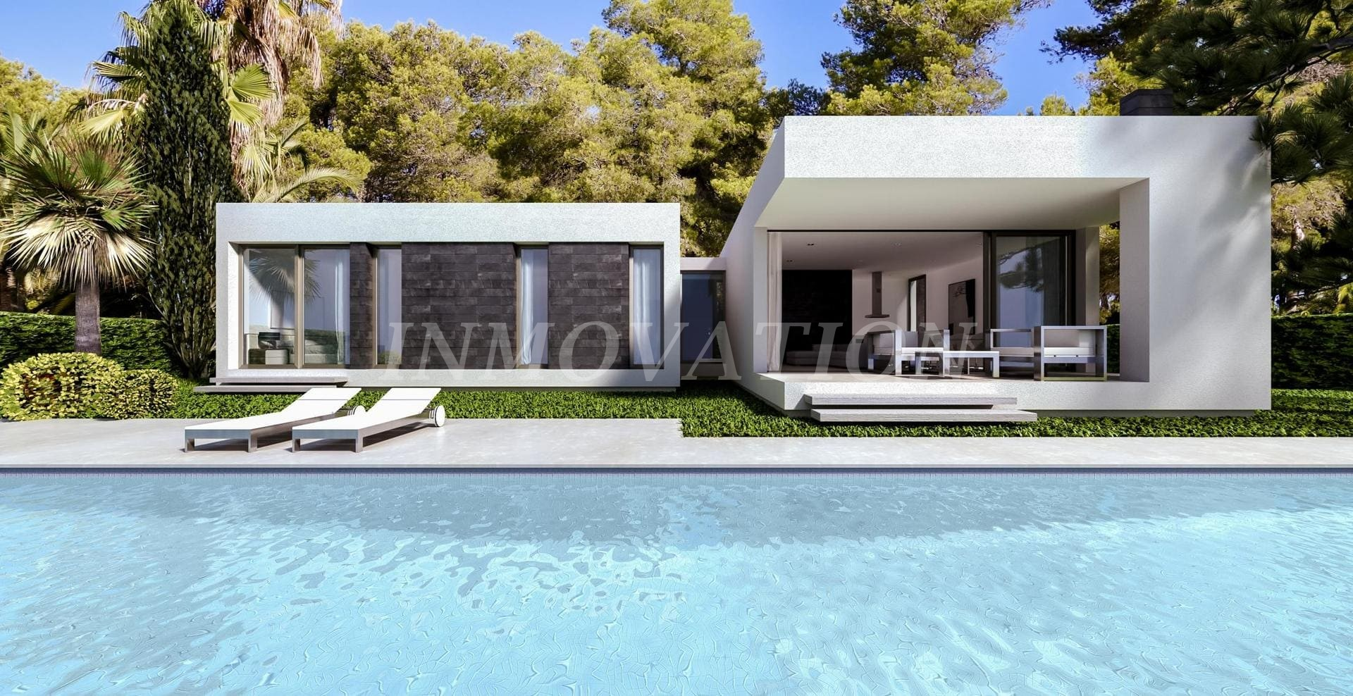 New Modern Style Villa Construction